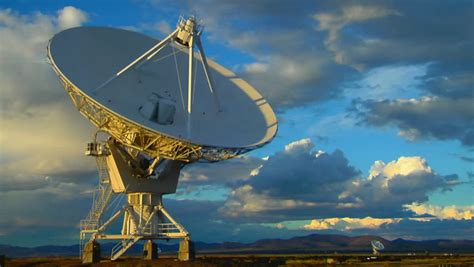 array of satellite dishes stock footage 1583659
