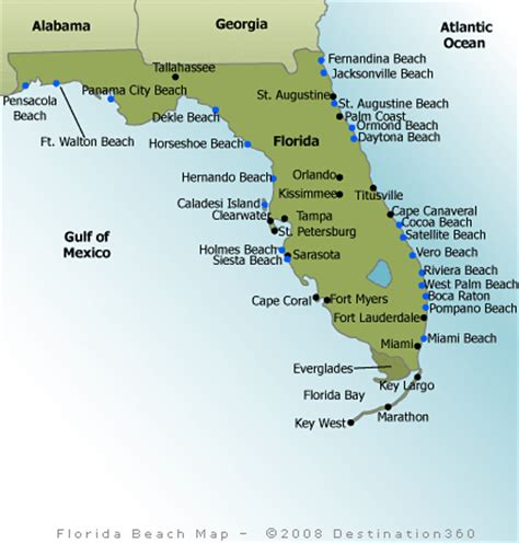 florida map beaches map of florida beaches best pictures