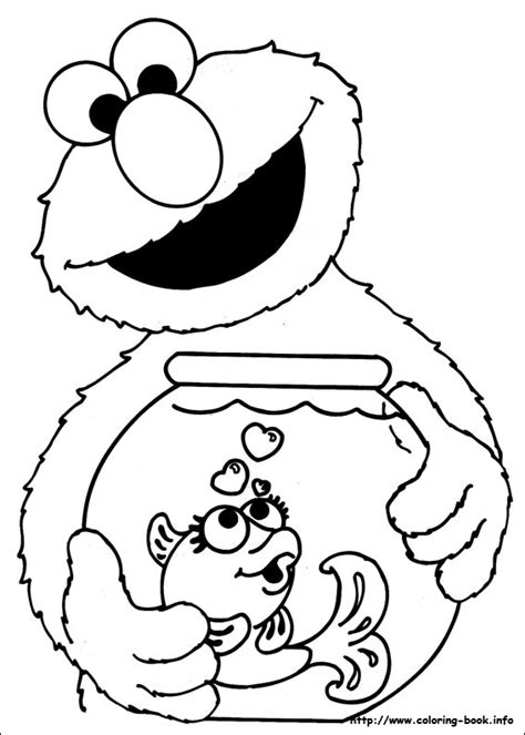 muppet character elmo coloring pages and pictures print