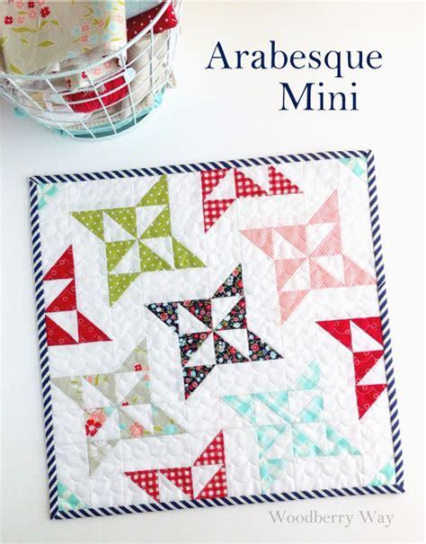 arabesque quilt pattern woodberry way arabesque mini quilt pattern