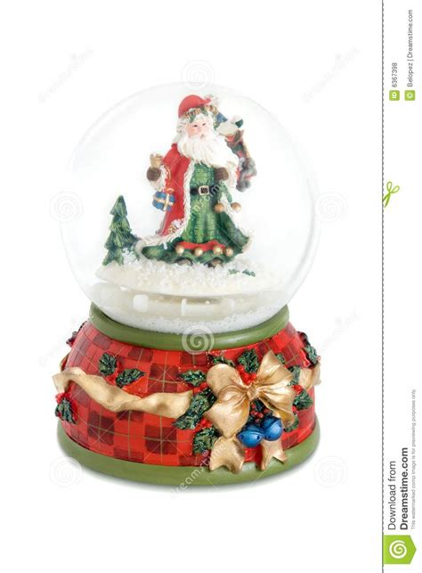 santa claus snow globe royalty free stock photos image