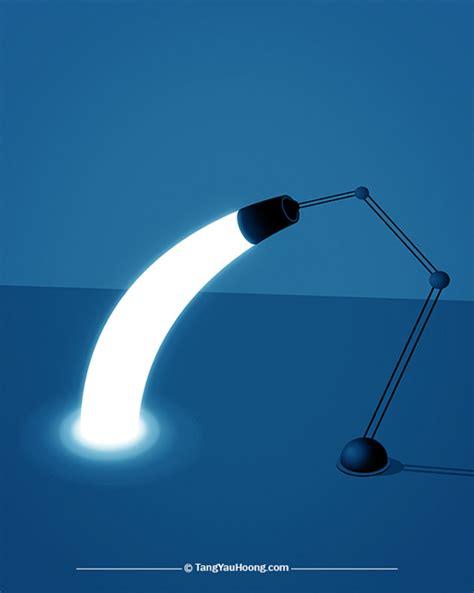 Light Bending by Surreal Light Illustrations By Tang Yau Hoong Designer