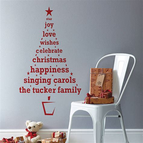 sayings about decorating a christmas tree personalised tree wall sticker by spin collective notonthehighstreet