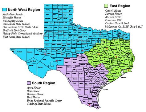 south west texas map rural cities in texas tyc regional map showing the west region covering the