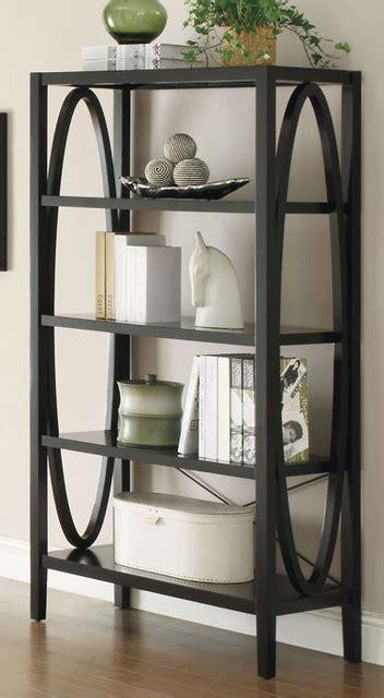800465 black contemporary bookcase modern bookcases