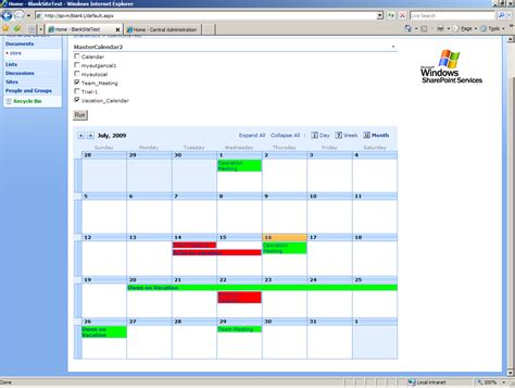 sharepoint calendar template sharepoint