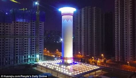 china builds worlds largest air purifier   feet daily mail