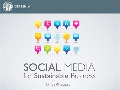 Mba Social Media by Presidio Mba Social Media For Sustainable Business By