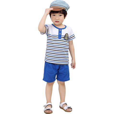 fashion clothes for 8 year old boy free shipping summer children 3 8 years old boy clothing