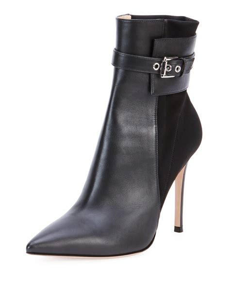 stretch out leather shoes gianvito leather stretch back ankle boot in black lyst