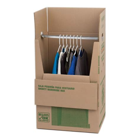 Wardrobe Storage Box by U Haul Shorty Wardrobe 174 Box