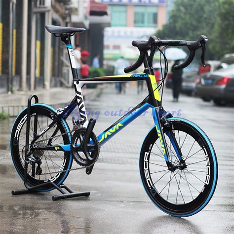 Bicycle S 1 java freccia 451 carbon mini velo bike 20 quot 1 1 8 quot minivelo bicycle with s h i m a n o 6800