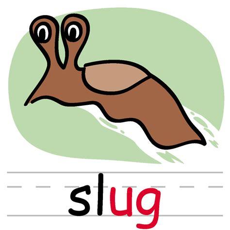 clip words clip basic words ug phonics slug color abcteach