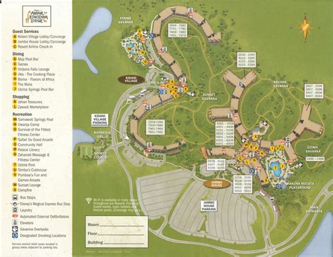 map of animal kingdom resorts dvc welcome home