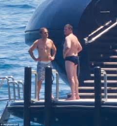 smoking love boat james packer shows off his portly figure in speedos aboard