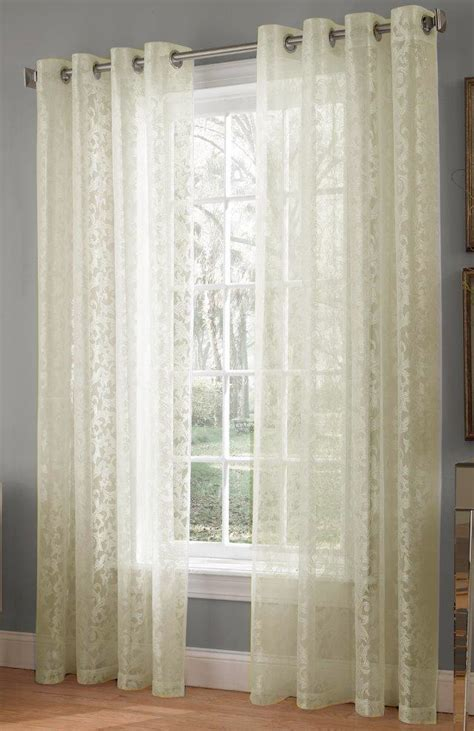 curtains ivory royale jacquard lace panels ivory lorraine view all curtains