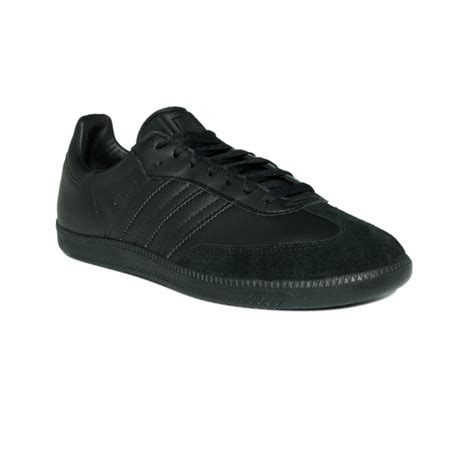adidas leather sneakers adidas leather samba sneakers in black for black