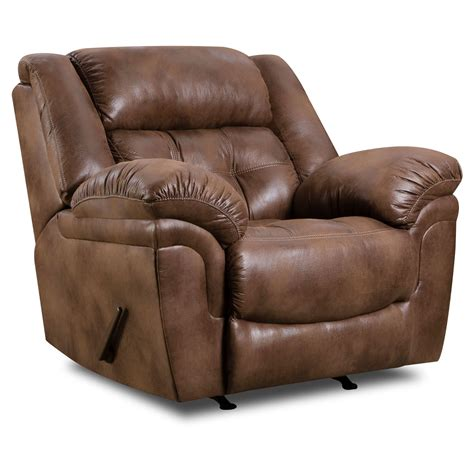 Furniture Padded Angle Arm And Fully Padded Chaise With Simmons Recliner Sofa