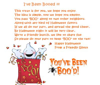 printable you ve been booed poem the gift gazette you ve been booed start the