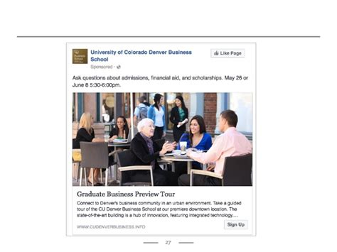 60day Mba Social Media 20 Exles by How Cu Denver S Business School Marketed An Open House