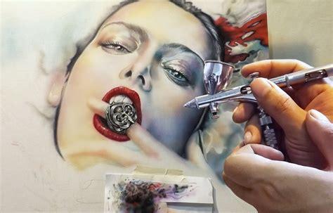 Airbrush Air Brush airbrush on canvas