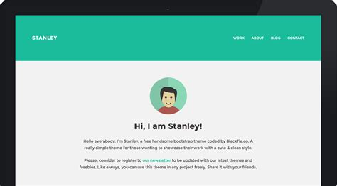 theme with page templates stanleywp bootstrap theme