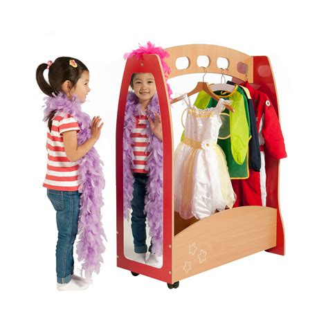 galaxy dressing up station childrens wooden dressing up