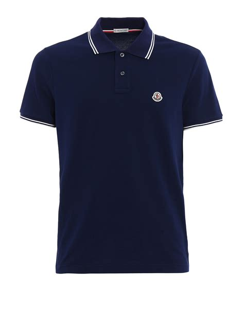 Striped Cotton cotton striped collar polo shirt by moncler polo shirts