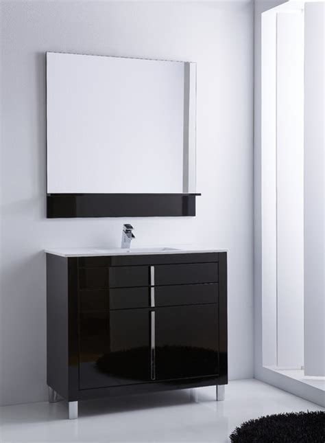 high gloss black bathroom furniture roma bathroom vanity 40 quot black high gloss lacquered contemporary powder room