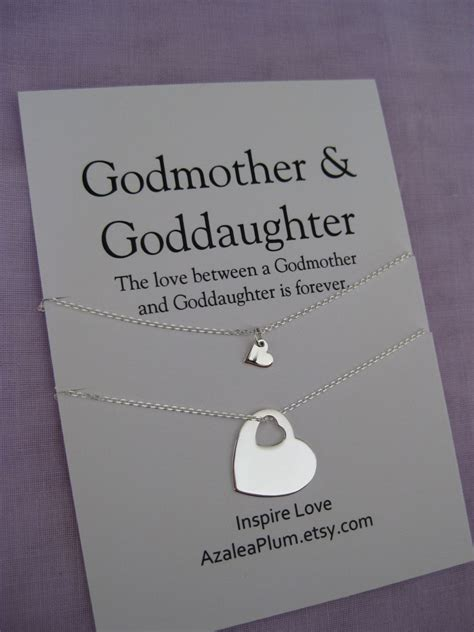 godmother necklace goddaughter jewelry goddaughter