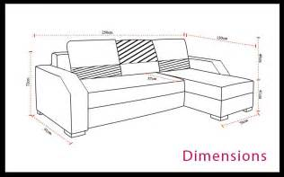 dimensions canap 233 d angle convertible