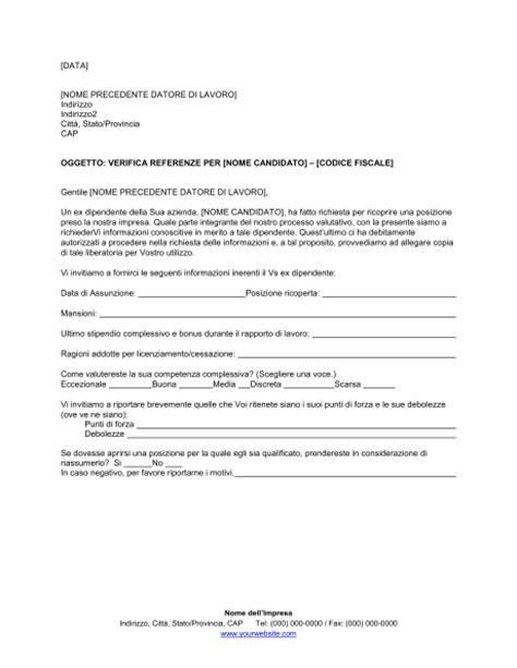 lettere di referenze fac simile lettera di referenze esempio firmakoek