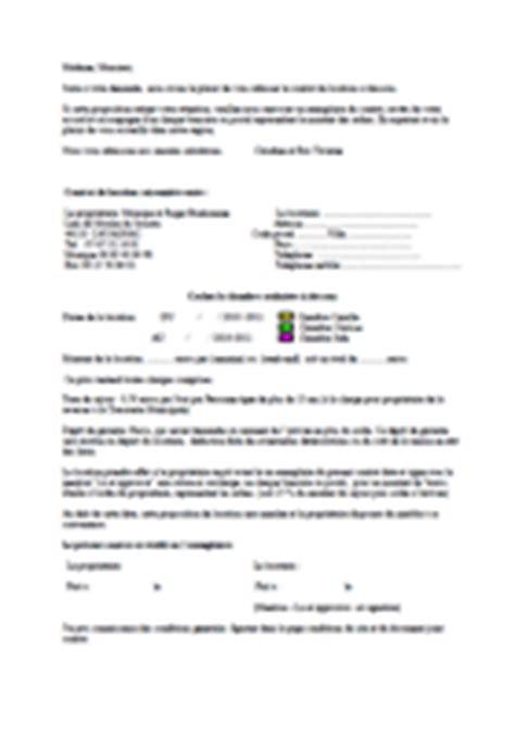 contrat location chambre meubl馥 conditions et contrat de location des chambres d h 244 tes de