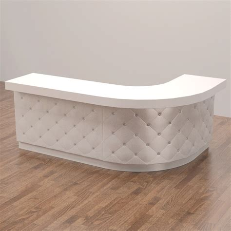 tufted salon reception desk tufted nail bar