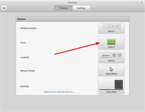 theme changer line mint how to install icon themes in linux mint cinnamon