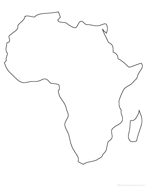 Blank Outline Of Africa by Blank Africa Outline Map Free Printable Maps