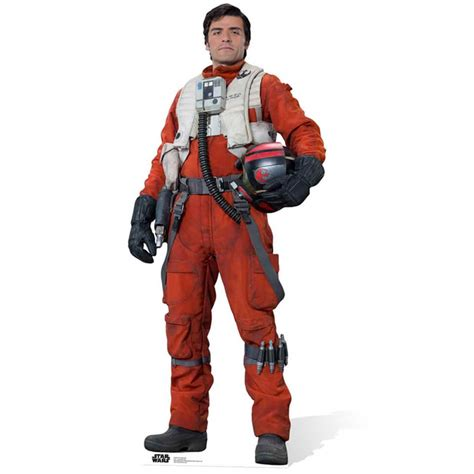star wars poe dameron 1302901117 star wars the force awakens poe dameron life size cut out merchandise zavvi