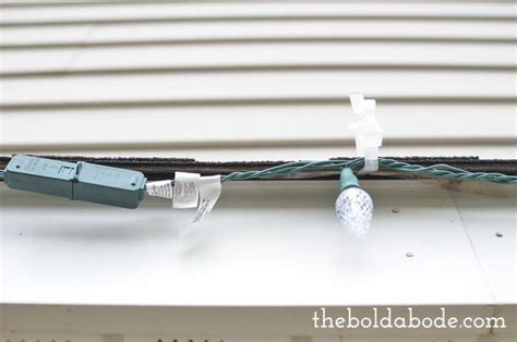how to hang christmas lights without a ladder