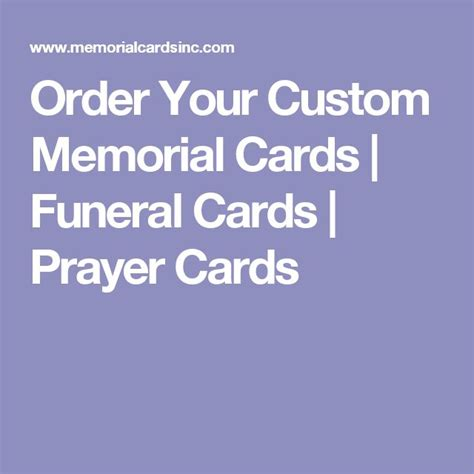 Laminated Prayer Cards Templates by 25 Best Ideas About Memorial Cards On