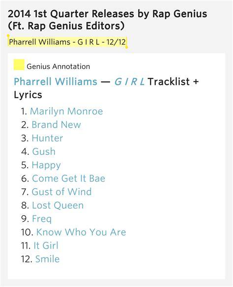 pharrell williams it girl lyrics genius lyrics pharrell williams g i r l 12 12 2014 1st quarter