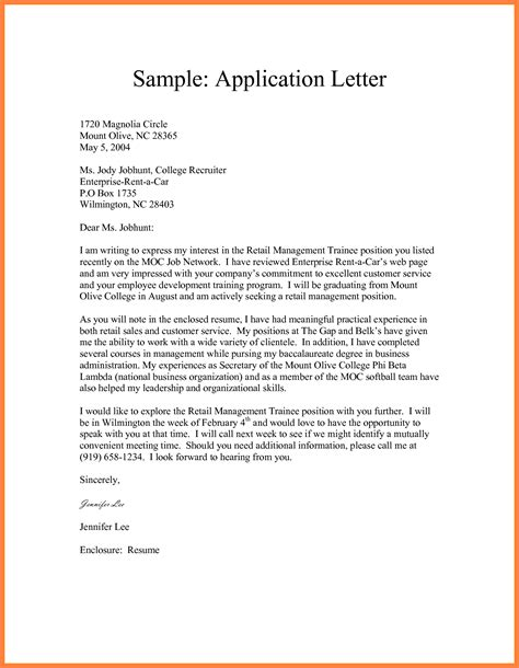 kinds of application letter format 9 format of a formal application bussines 2017