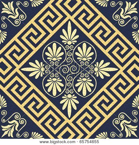 greek motifs vector seamless vintage gold greek ornament meander