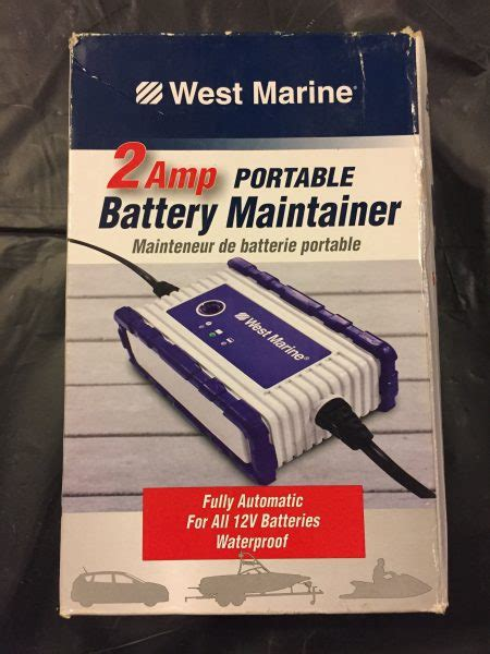 marine battery charger maintainer west marine 14982037 portable battery charger