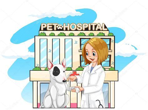 imagenes animadas hospital veterinaria y perro de animal dom 233 stico en el hospital