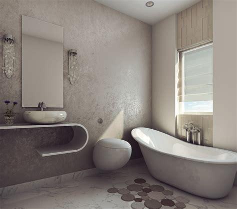 modern earthy design bath room cgtrader