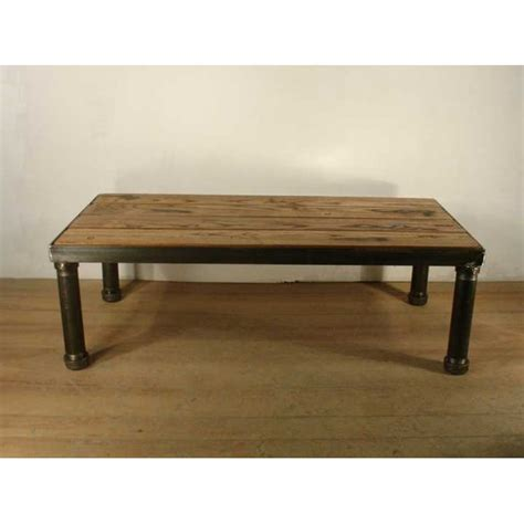 large coffee table industrial style