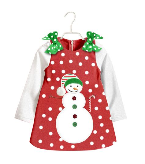 2015 new baby girls christmas dresses cartoon snowman dot