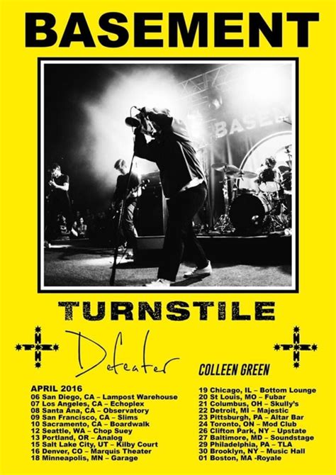 basement tour dates basement announce tour with turnstile defeater and