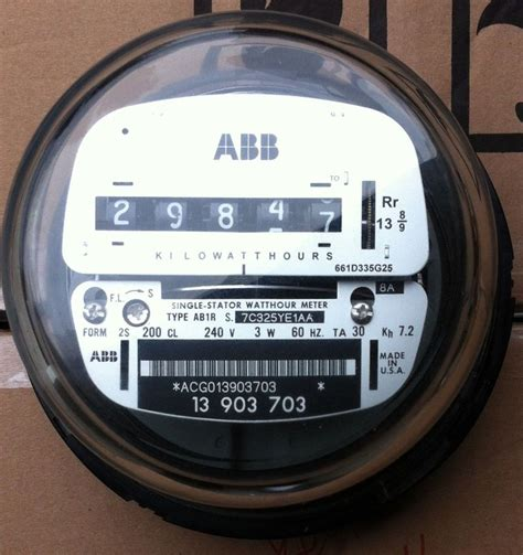 Krisbow Cl Meter 400 A abb watthour meter kwh ab1 ez read cyclone 4 lugs