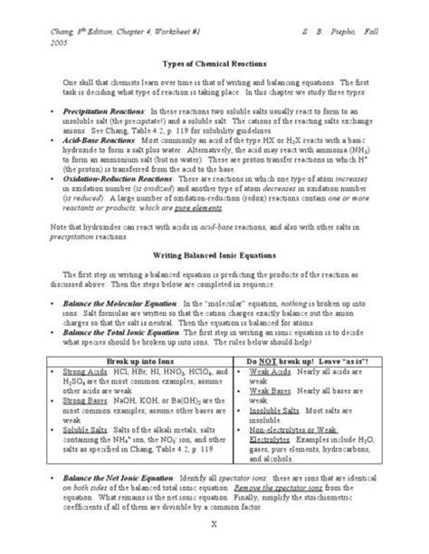 Physical Evidence Worksheet Answers by Chemical Reactions Lesson Planet And Worksheets On